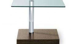 Ronald Schmitt Beistelltisch aus Holz und Glas